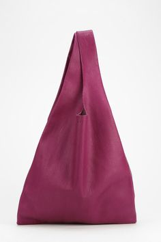 BAGGU Leather Shopper Tote Bag