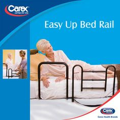 Carex® Easy-Up Bed Rail with Padded Support Bar    The Carex® Easy-Up Bed Rail is designed to give peace of mind to both the caregiver and user. The bedrail provides a security barrier from falls with a convenient padded support bar to help with sitting or standing.
