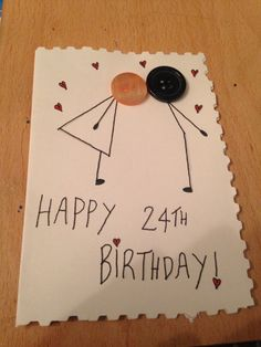 Birthday Card that I made for my boyfriend. It was super cheap to make and is nicer and it's personal :-)