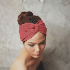 Hey, I found this really awesome Etsy listing at https://www.etsy.com/listing/180632932/cranberry-turban-twist-headband-plain