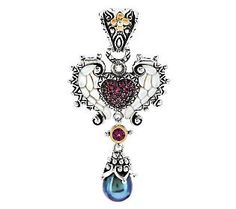 Barbara Bixby Sterling/18K Wing Heart Mother-of-Pearl Enhancer