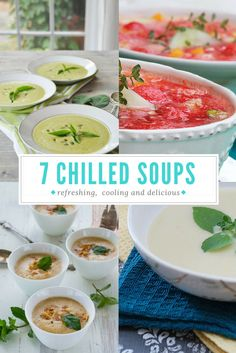 7 chilled vegan soup recipes from some of my favorite bloggers. Easy to make and perfect for the last heat wave of August!