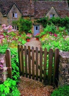 English Cottage outdoors flowers green garden inspiration yard ideas cottage english