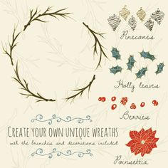 Winter Wreath Clipart Overlays // Photoshop by thePENandBRUSH