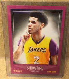SHOWTIME LA LAKERS LONZO BALL CUSTOM ROOKIE CARD UCLA BRUINS #2 PICK NBA DRAFT | Sports Mem, Cards & Fan Shop, Sports Trading Cards, Basketball Cards | eBay!