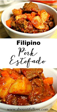 Filipino Pork Estofado. Pork is so tender and full of flavor!
