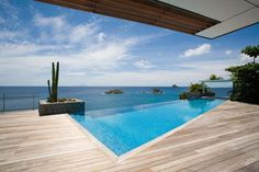 A waterfront villa, overlooking the clear blue sea: St. Barthelemy 129