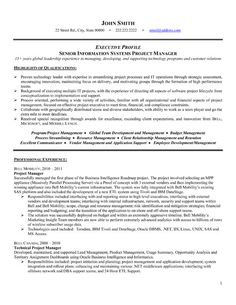 project management resume templates