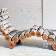 Diy log lounge chair3