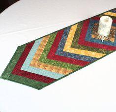 Table Runner from Benartex Fabrics in Red Green by CactusPenguin