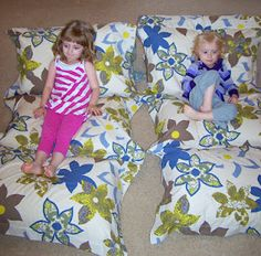Pillow mats or fold under to make great reading or tv watching chairs!