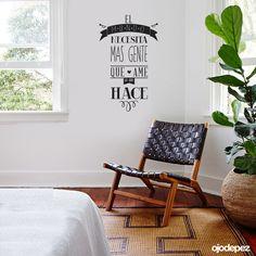 Vinilo decorativo Frase 024: El mundo necesita mas gente que ame lo que hace. Frases en vinilo Vinilos decorativos Frases Vinilos adhesivos Wall Art Stickers wall stickers