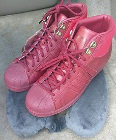 Adidas PRO MODEL S Basketball Burgundy Red Deadstock RARE winter fashion style