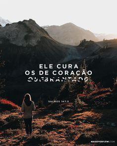 Ele cura os de coração quebrantado e enfaixa suas feridas. - Salmos 147:3 #30DAYSOFBIBLELETTERING X