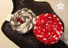Boutique Style Elastic Headband Double Rosette in by skylarraine, $13.00