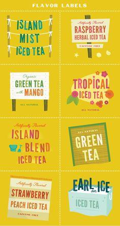 island mist ice tea labels