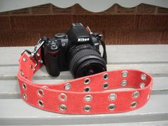 Vintage Upcycled Camera Strap. $19.99, via Etsy.
