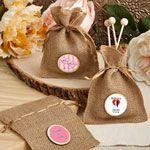 Personalized Wedding Burlap Treat Bags
