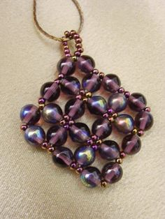 Free Seed Bead Ornament Patterns | free beadweaving patterns | free seed bead weaving patterns ...