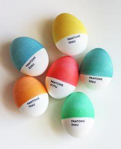 DYI pantone easter eggs