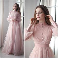 Cute Formal Dresses, Elegant Dresses Classy, Prom Dresses Long With Sleeves, Modest Dresses, Stylish Dresses, Casual Dresses, Modest Fashion Hijab, Fashion Dresses, Moda Disney