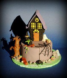 """""""Dare you Enter?"""" Halloween Cake  ~ all edible"""