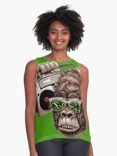 « Monkey music -singe, gorille, radio, musique, bonobo, chimpanzé » par LEAROCHE Radios, Shirt Style, Tank Man, People, Mens Tops, Shirts, Fashion, Gorilla Gorilla, Monkeys