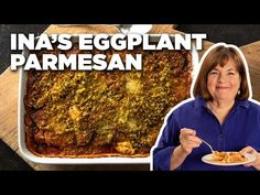 Cook Roasted Eggplant Parmesan with Ina Garten Healthy Dessert Recipes, Vegetarian Recipes, Cooking Recipes, Recipes Dinner, Dinner Ideas, Food Network Recipes, Food Processor Recipes, Roast Eggplant, Eggplant Recipes