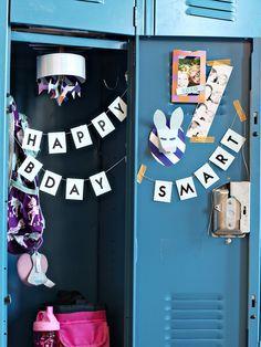Back to School DIY - Locker Decoration Craft Projects - Decorate Your Locker | Small for Big Locker Crafts, Diy Locker, Locker Ideas, Cumpleaños Diy, Locker Organization, Locker Accessories, Bff Birthday, Birthday Ideas, School Lockers
