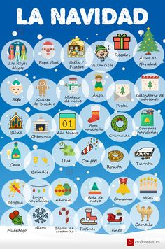 Vocabulario de la Navidad | Christmas in Spain / Learn Spanish / Spanish language / Spanish vocabulary