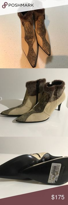 Gianni Barbato Lizard Ancle Boots size 7.5 new Gianni Barbato Lizard Ancle Boots 7.5 (true to size) in very good conditions.  Never use them but have a few spots on leather .  (Nothing true noticeable). Very elegant and sophisticated!!!! gianni barbato Shoes Ankle Boots & Booties