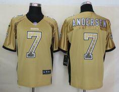 ca03eaa78 Nike New Orleans Saints  7 Morten Andersen 2013 Drift Fashion Gold Elite Jersey  New Orleans