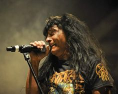 Anthrax lead singer Joey Belladonna performs during their sold-out show on Friday, Jan. 15, 2016, at Stage AE in Pittsburgh.  (Jack Fordyce     Tribune-Review)