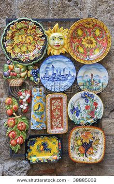 Italian pottery- I think I have found my true love in dishes! @Laura Niemann
