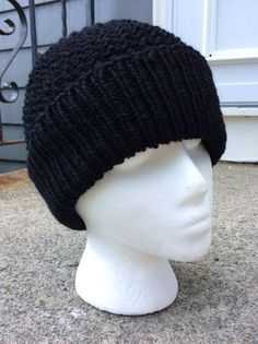 Men's Knit Beanie Wool Teen Boy Beanie Slouch by WendysWonders127