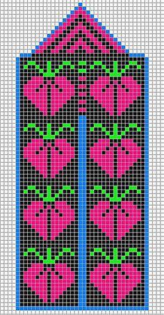Fruit - chart Knitting Stiches, Knitting Charts, Hand Knitting, Knitting Patterns, Knitted Mittens Pattern, Knit Mittens, Cross Stitch Embroidery, Cross Stitch Patterns, Fair Isle Chart