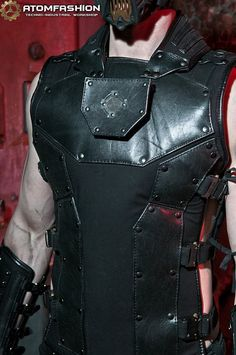 Leather Bracers, Leather Vest, Techno, Berlin Fashion, Leather Trench Coat, Body Armor, Haute Couture Fashion, Industrial Style, Clothes