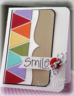 pennant punch.... I have a CTMH stamp and the Cricut Art Philosophy cartridge that would be so cool with this