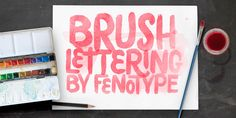 Poster Brush Font: Poster Brush is a hand drawn font pair with lots of character. Poster Brush is packed with OpenType features - Contextual Alternat. Brush Font, Brush Lettering, Hand Drawn Fonts, Presentation Slides, Type Design, How To Draw Hands, Logos, Poster, Typo