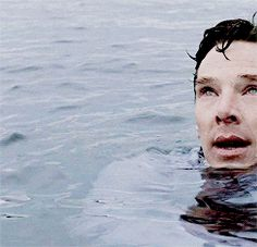 I do wonder if anyone else is swimming with him, because I don't know, if not he's alone on the water.