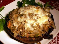 Healthy Stuffed Portobello Mushrooms sub in vegan cheese