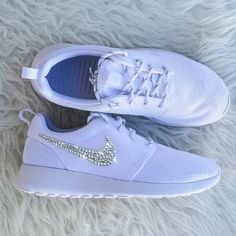 Gorgeous! Brand new customized pair of Nike Roshes with Swarovski Rhinestones. SHIPS IN 2-3 WEEKS *NIKE ROSHES TEND TO RUN TRUE TO SIZE* - Crystals...