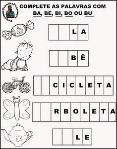 Pequenos Grandes Pensantes.: Atividades inéditas com a letra B