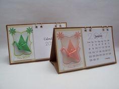 calendário de mesa com tsuru #sakuraorigamiatelie #tsuru #origami #calendário #calendar #2018 #lembrancinha #finaldeano