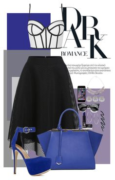 """""""Dark Romance"""" by goldenhippy on Polyvore featuring Topshop, Fendi, ASOS and Michael Kors"""