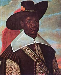Don Miguel de Castro from the Kingdom of Kongo during a commercial trip to the portuguese colony of Brazil.  by Albert Eckhout.