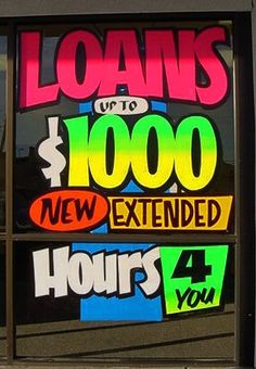 Loans up to $1000