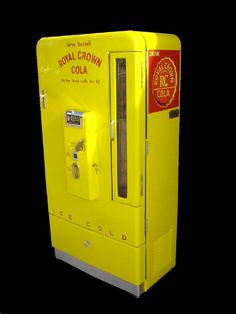 VINTAGE RC COLA MACHINE -- AUTHORIZED SALES AND RESTORATION OF VINTAGE SODA MACHINES - REFRIGERATION SPECIALIST! - WORLDS LARGEST COLLECTION IN HOUSE! - LARGEST SHOWROOM - MORE SODA MACHINES IN STOCK - OVER 1000!- BUY A MACHINE! - HAVE US RESTORE YOUR VINTAGE SODA MACHINE! - OR CALL ANYTIME FOR FREE ASSISTANCE!
