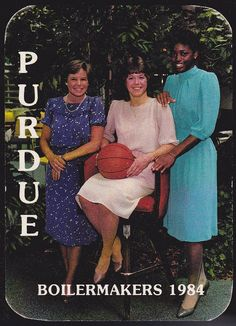 1984-85 PURDUE BOILERMAKERS MEMORIAL UNION WOMENS BASKETBALL POCKET SCHEDULE #SCHEDULE