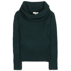 Burberry London Wool and Cashmere Turtleneck (795 BAM) ❤ liked on Polyvore featuring tops, sweaters, shirts, jumpers, green, wool turtleneck, turtleneck shirts, green top, green jumper and cashmere sweaters
